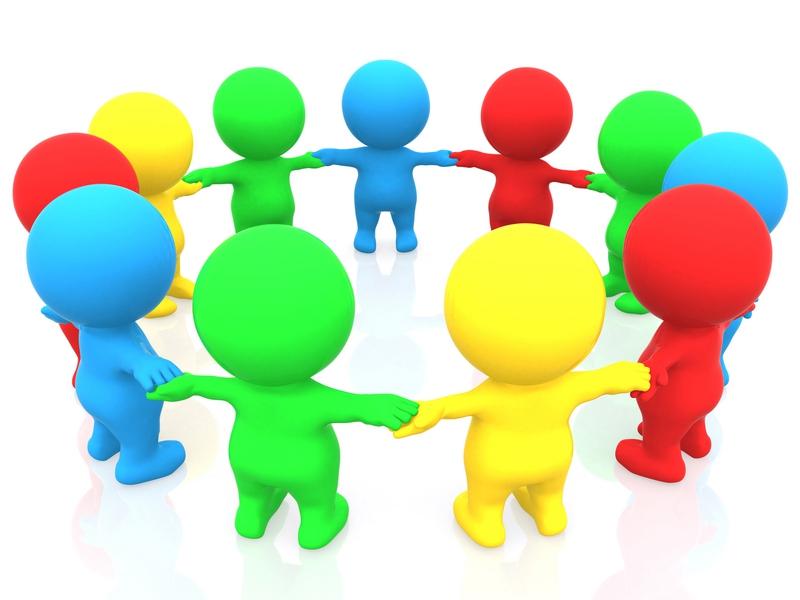 Картинка для презентации человечки в кругу